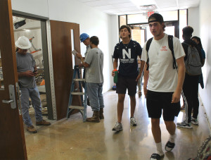 Classes continue with ongoing construction in Humanities Building