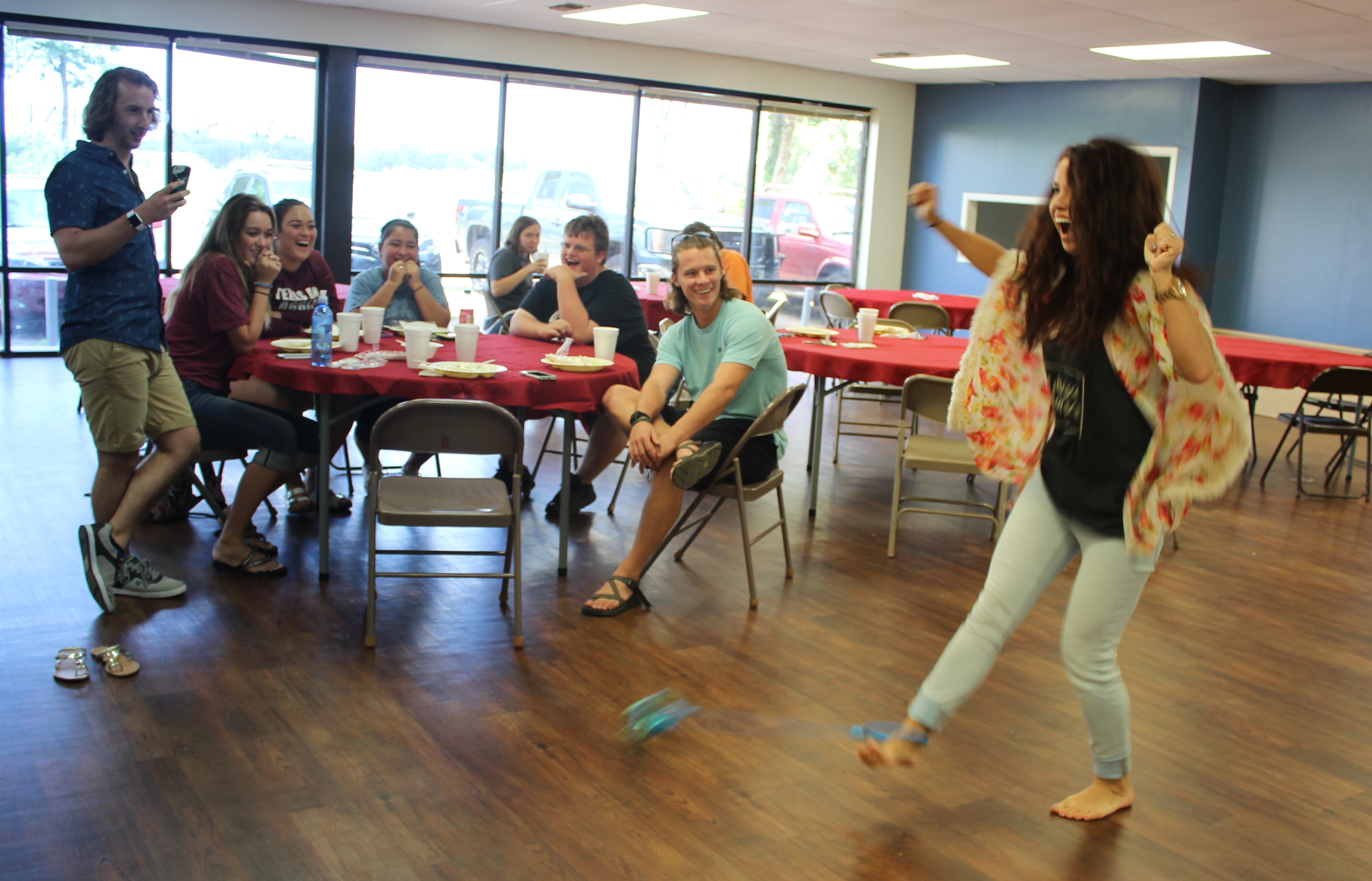 Students gather at BSM for lunch and other activities