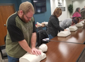 NTCC staff receives AED/CPR training classes